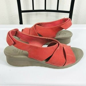 Clarks Cloud Steppers Caddell Bright Wedge Sandals